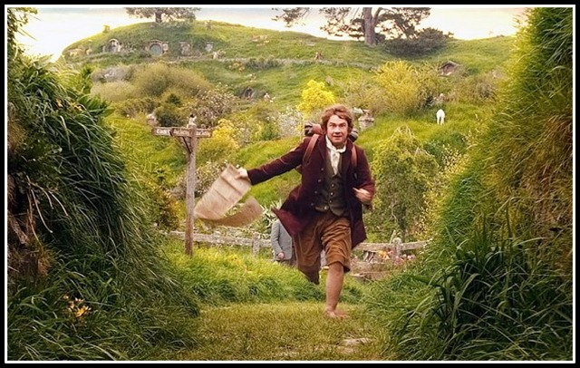 THE HOBBIT: AN UNEXPECTED JOURNEY...MARTIN FREEMAN as the Hobbit Bilbo Baggins in the fantasy adventure THE HOBBIT: AN UNEXPECTED JOURNEY, a production of New Line Cinema and Metro-Goldwyn-Mayer Pictures (MGM), released by Warner Bros. Pictures and MGM.