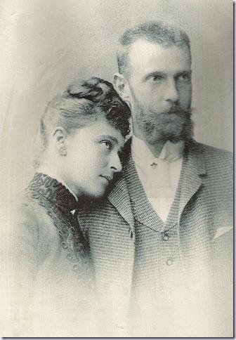 El gran duque Sergio y su esposa la gran duquesa Isabel Feodorovna