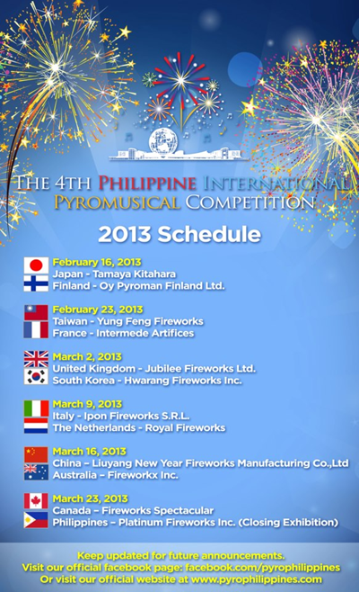 4th Philippine International Pyromusical Competition (2013)