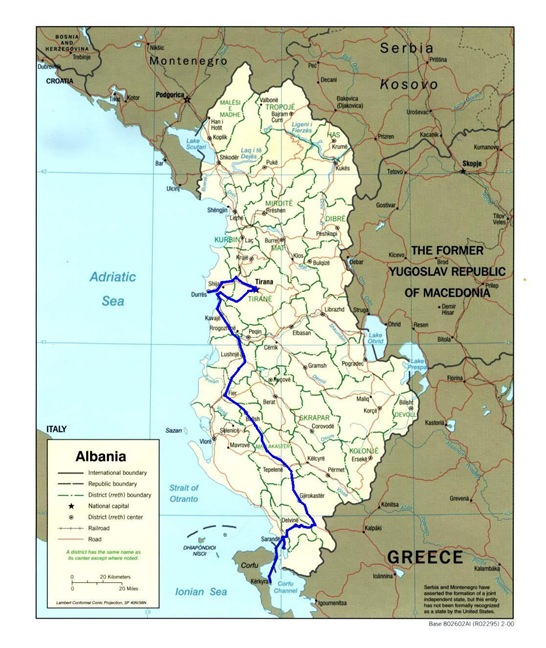 albania route map 3