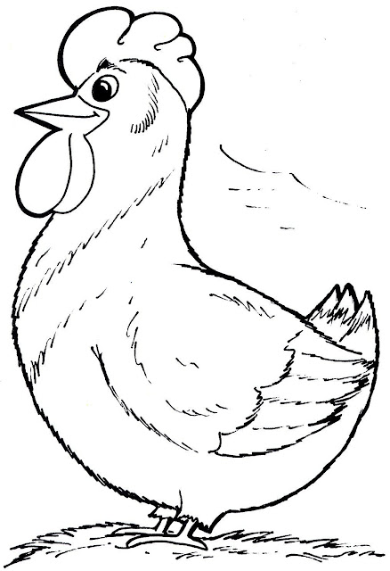 Dibujos de gallos y gallinas para colorear  Manualidades Infantiles