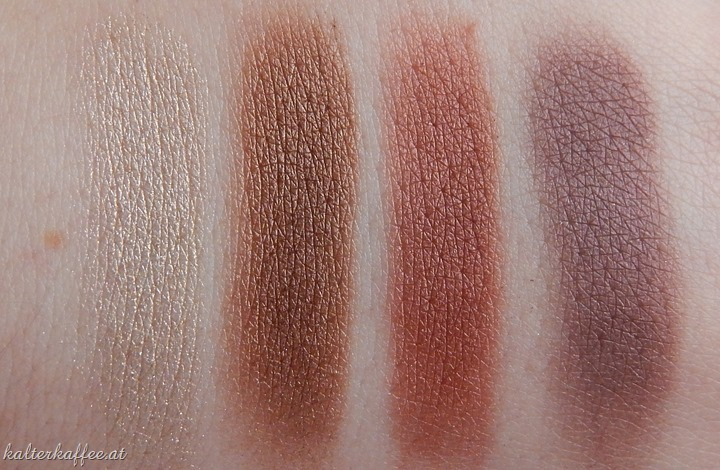 Isadora Coffee & Poetry LE Eyeshadow Swatches