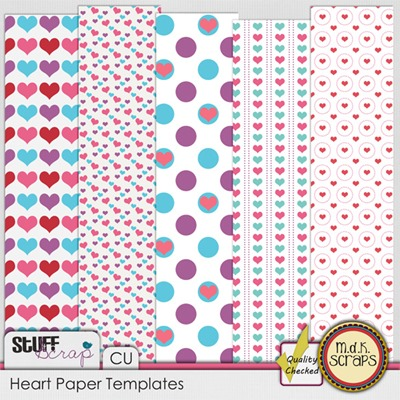 Heart Paper Templates
