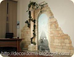 Декор стен гостиной