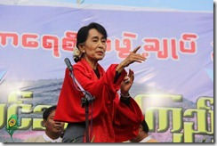 Aung San Suu Kyi in Monywa
