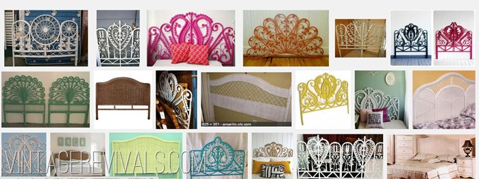 Colorful Wicker Headboard