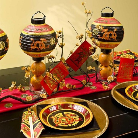 chinese new year dragon tablesetting