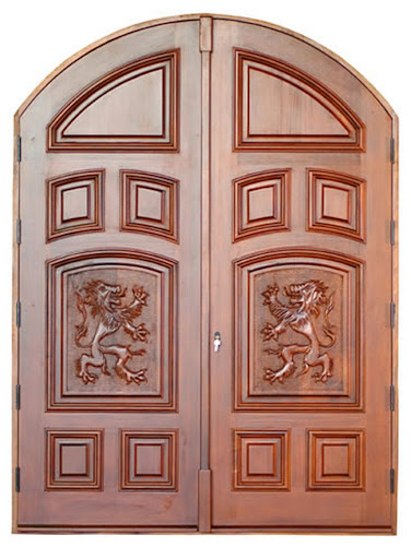 Hand Carved Wooden Entry Doors by Summit | Gilded Life