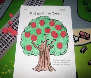 Roll an Apple tree game