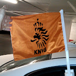 KNVB flag on my car in Toronto, Ontario, Canada