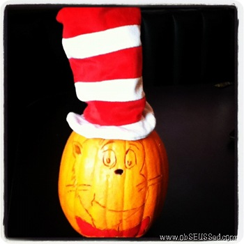 Cat in the Hat Black Pumpkin