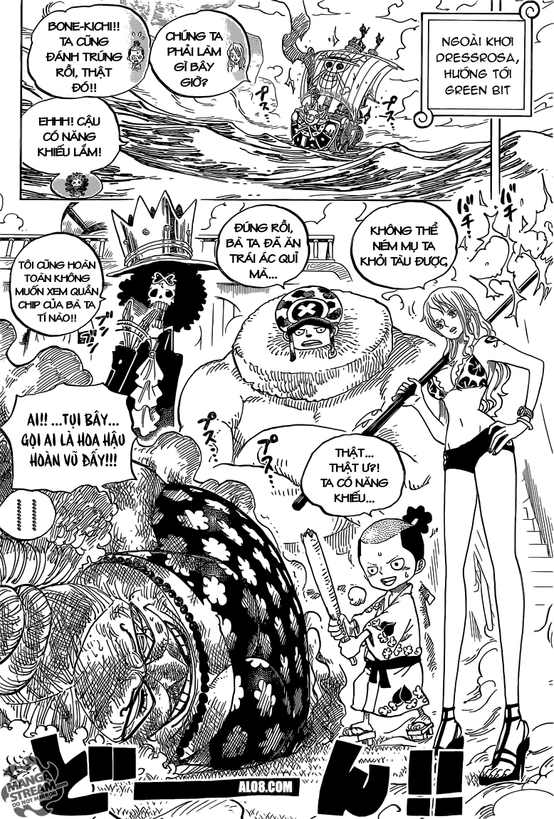 One Piece Chapter 723: Thay đổi trong kế hoạch 008