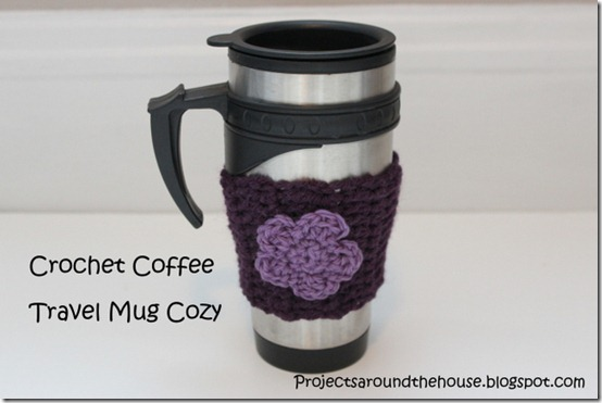 crochet coffee travel mug cozy