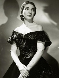 Maria Callas as Violetta in Verdi's LA TRAVIATA