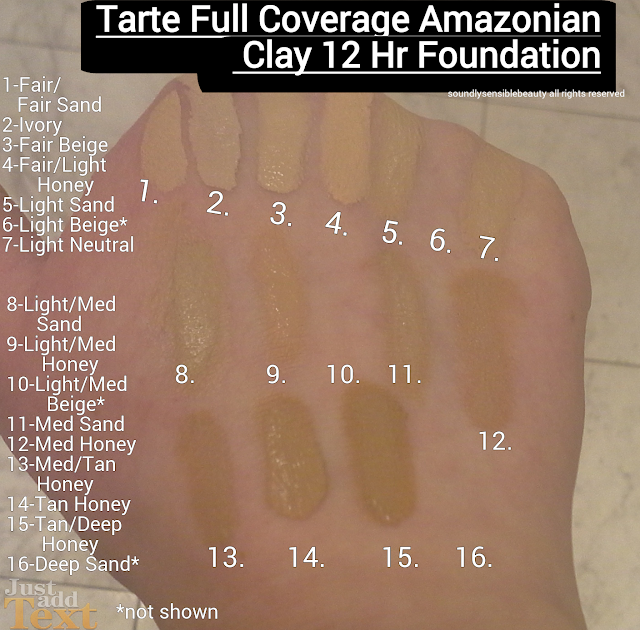 Tarte Full Cover Foundation, Fair, Light, Medium, Tan, Deep, Ivory, Beige, Honey, Sand, Neutral