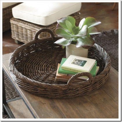 hand woven vine tray