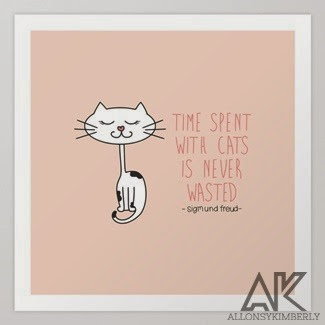 Time With Cats Art Print by August Decorous on Society6