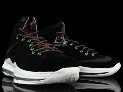 nike lebron 10 sportswear black mint nubuck 6 08 Nike Sportswears LeBron X EXT Black / Mint (607078 001)