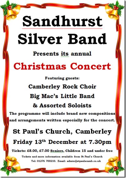 Sandhurst Silver Band Christmas 2013