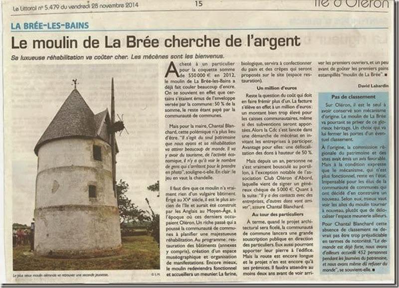 Le moulin de la Brée