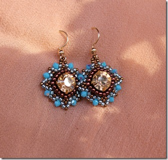 Masca Earrings beaded crystal Rachel Graham