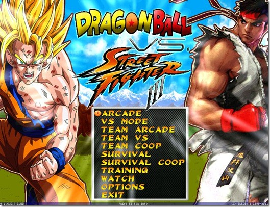 Dragonball vs Street Fighter 3 fan game