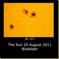 20 August 2011 Sunspot close-ups