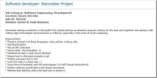 microsoft job description