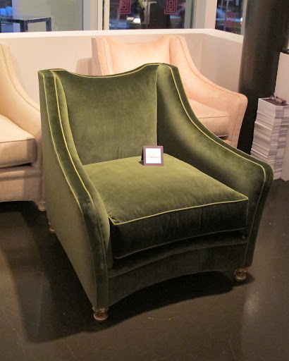 Martha absolutely loved this Jayne Lounge chair in the emerald green velvet.