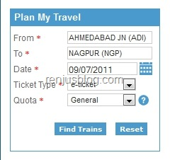IRCTC-Tatkal-Find Trains