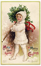 snowgirl vintage image graphicsfairy008b