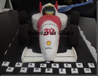Bolo de aniversrio Carro de Formula 1 (Vegan) 1