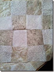 quilt in proces 3 wonky