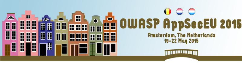 OWASP AppSecEU 2015: 19-22 May 2015