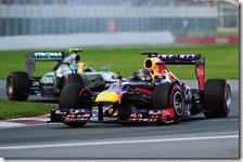 Vettel davanti ad Hamilton nel gran premio del Canada 2013