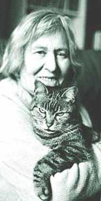 Margherita Hack col gatto