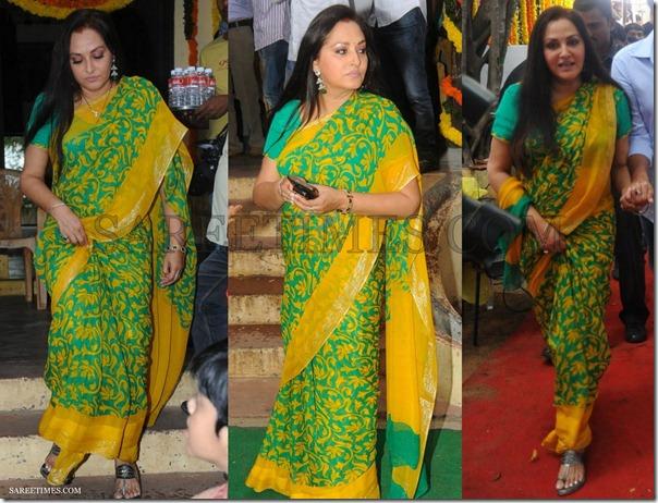 Jayapradha_Green_Saree