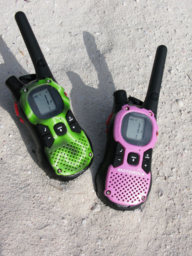 Here are two of our walkies. They were all different colors so each person knew which one was theirs. We called this our