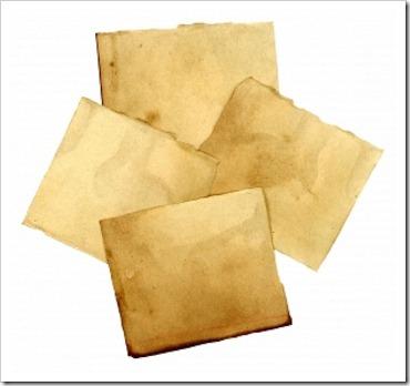 pedacos de papel