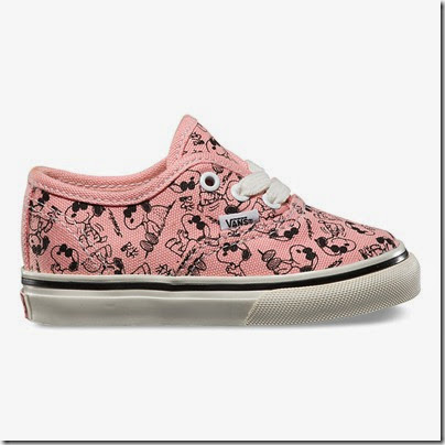 Vault by Vans X Peanuts OG Authentic LX Toddler Sizes Peach