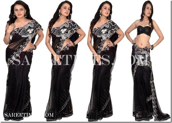 Hanika_Paryani_Black_Designer_Saree