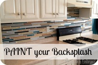 Paint your backsplash {Sawdust and Embryos}