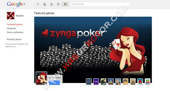 Bermain Game di Google+ Plus