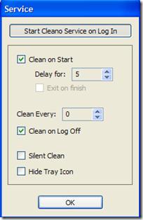 Cleano automatizzazione cancellazione file dal PC