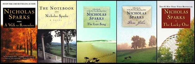 Nicholas Sparks portadas