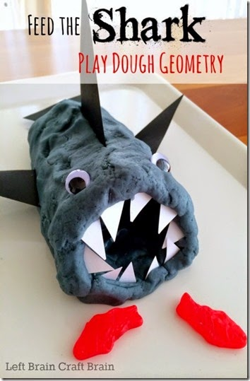 Feed the Shark Playdough Geometry from Left Brain Craft Brain