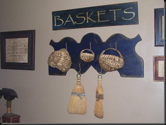 fowl rack with brooms