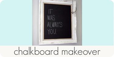 chalkboard makeover