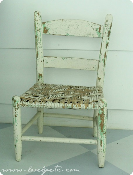 chippy vintage children's chair