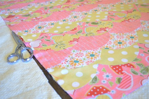 Adding batting BABY QUILT TUTORIAL